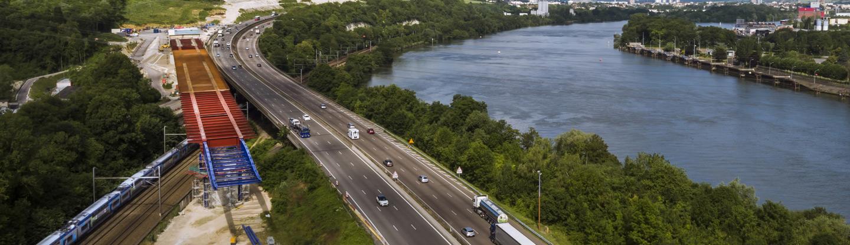 Viaduc de Guerville sur l'autoroute A13